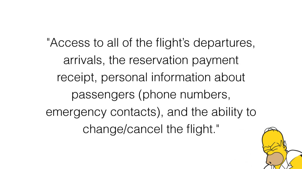 """""""Access to all of the flight's departures, arriv..."""
