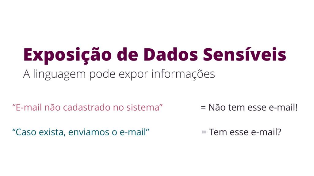 """""""E-mail não cadastrado no sistema"""" = Não tem es..."""