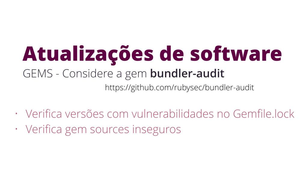 Atualizações de software https://github.com/rub...