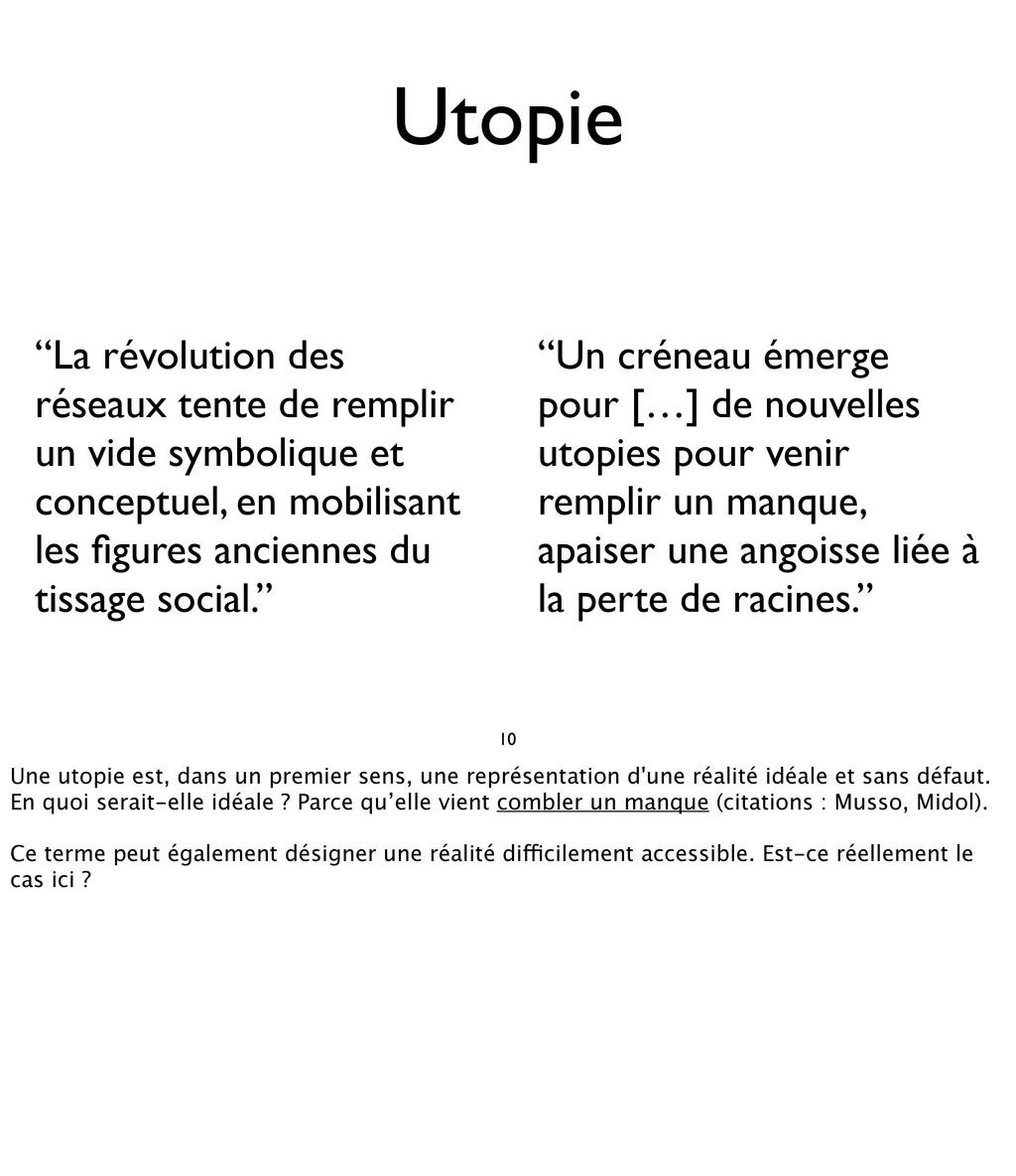 """10 Utopie """"La révolution des réseaux tente de r..."""