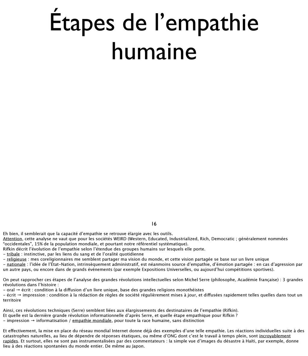 16 Étapes de l'empathie humaine Eh bien, il sem...
