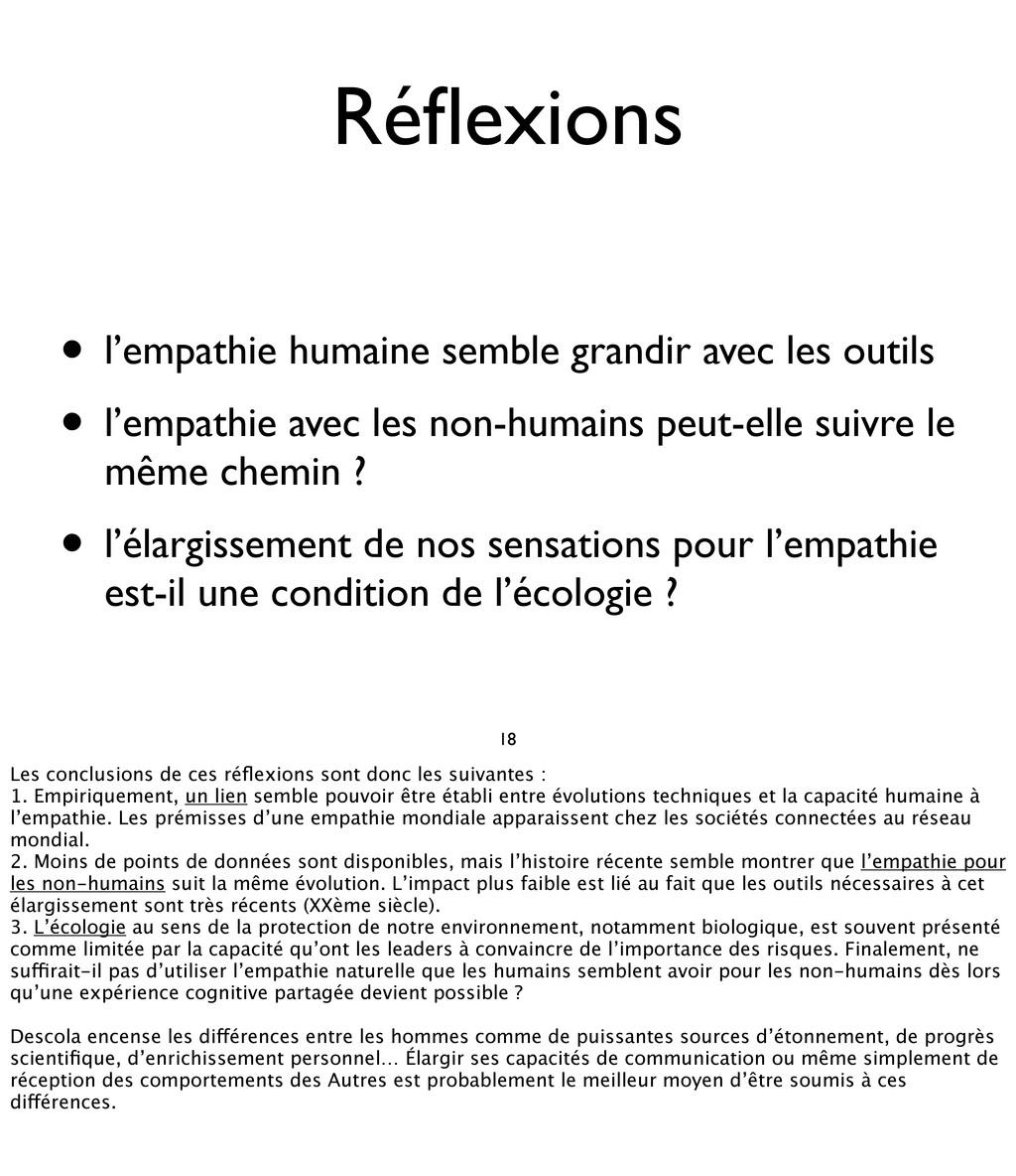 Réflexions • l'empathie humaine semble grandir a...
