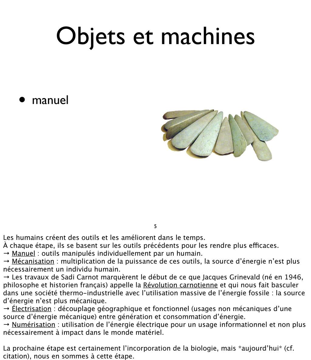 • manuel Objets et machines 5 Les humains créen...
