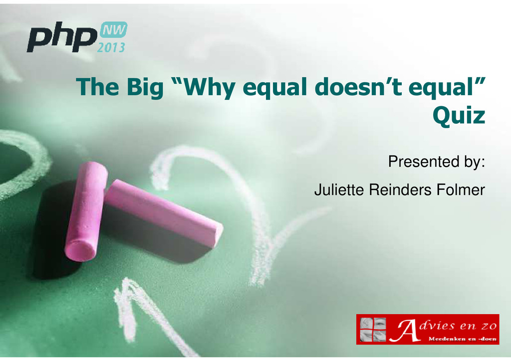 "The Big ""Why equal doesn't equal"" Quiz Presente..."
