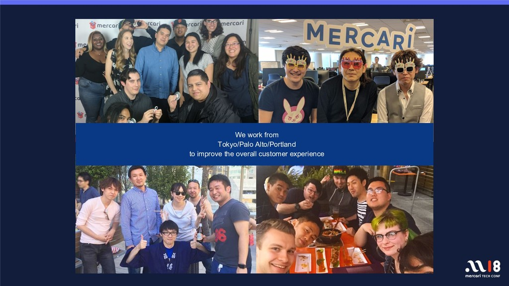We work from Tokyo/Palo Alto/Portland to improv...