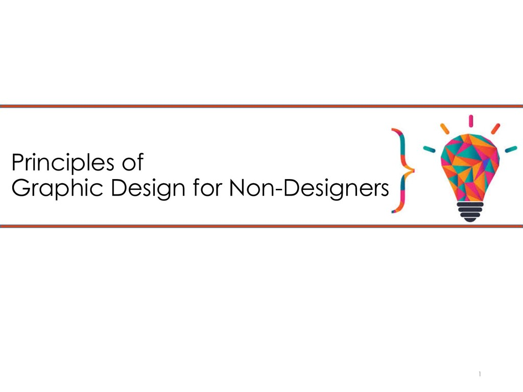 Principles of Graphic Design for Non-Designers 1