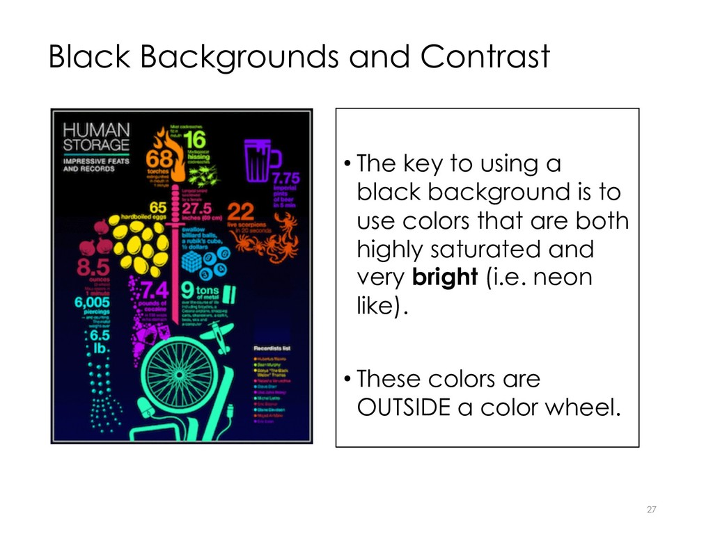Black Backgrounds and Contrast • The key to usi...