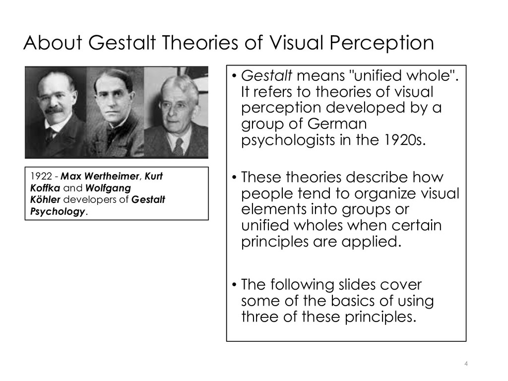About Gestalt Theories of Visual Perception • G...