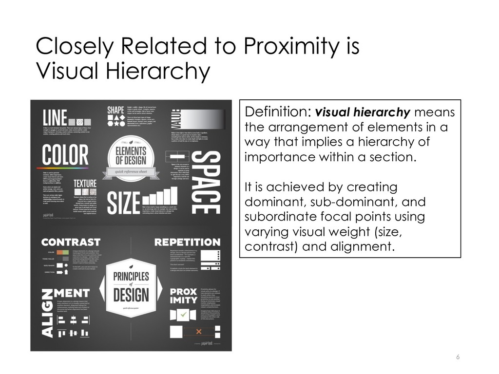 Closely Related to Proximity is Visual Hierarch...
