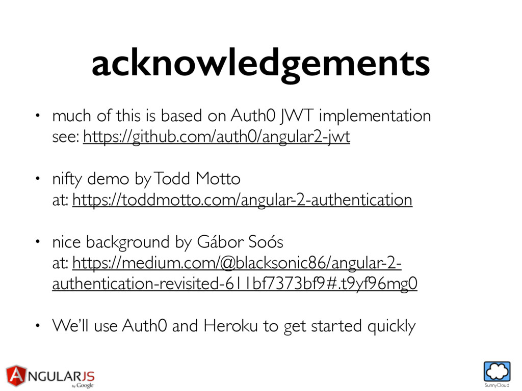SunnyCloud acknowledgements • much of this is b...