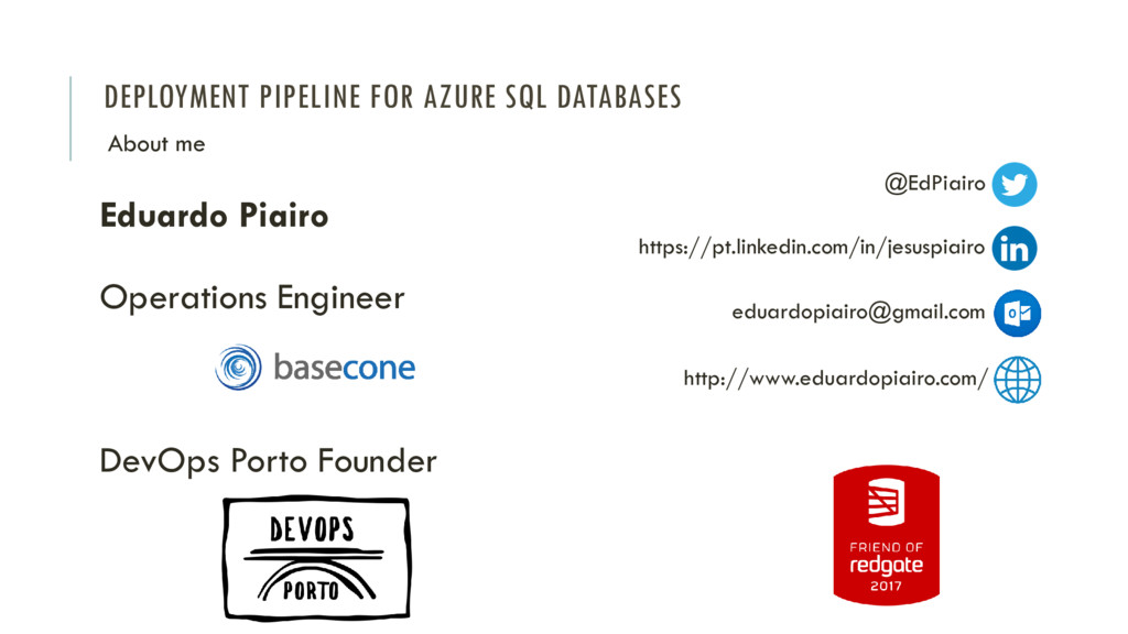 DEPLOYMENT PIPELINE FOR AZURE SQL DATABASES Edu...