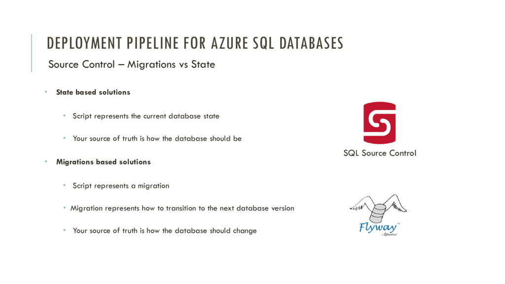 DEPLOYMENT PIPELINE FOR AZURE SQL DATABASES Sou...