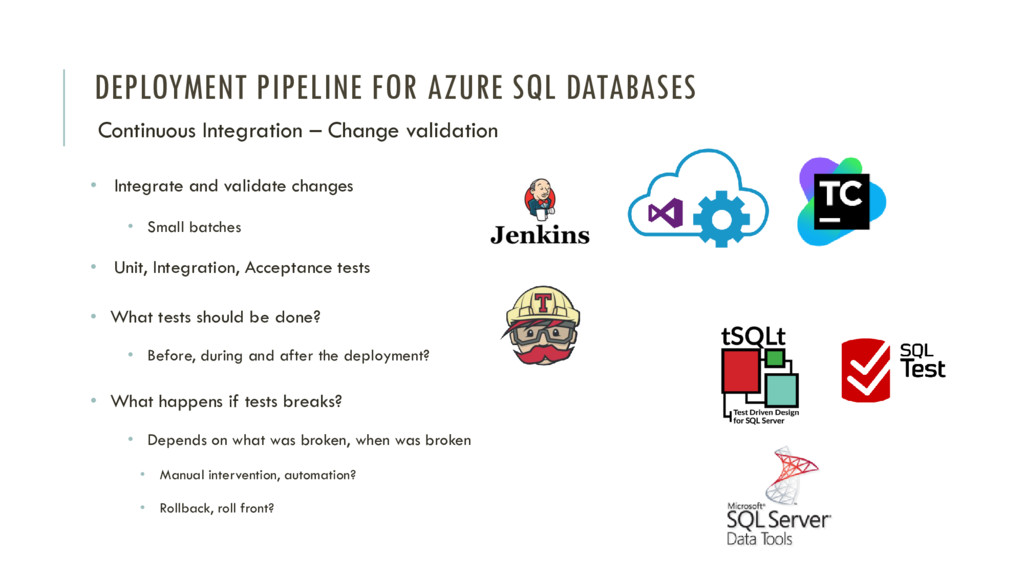 DEPLOYMENT PIPELINE FOR AZURE SQL DATABASES Con...