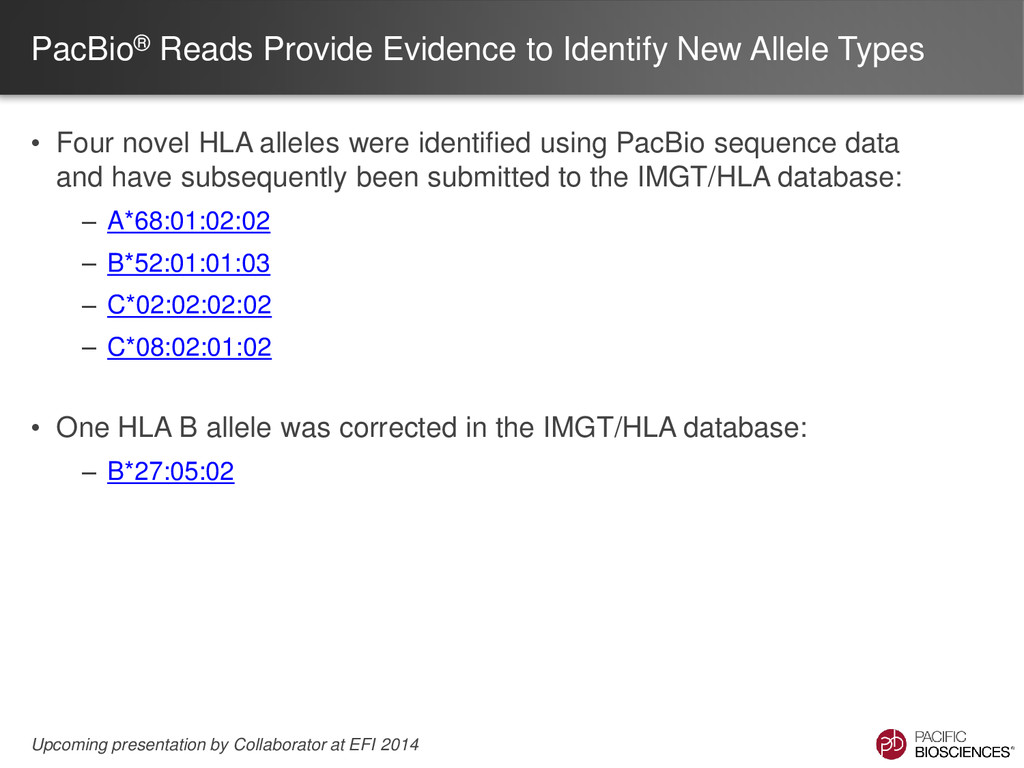 PacBio® Reads Provide Evidence to Identify New ...