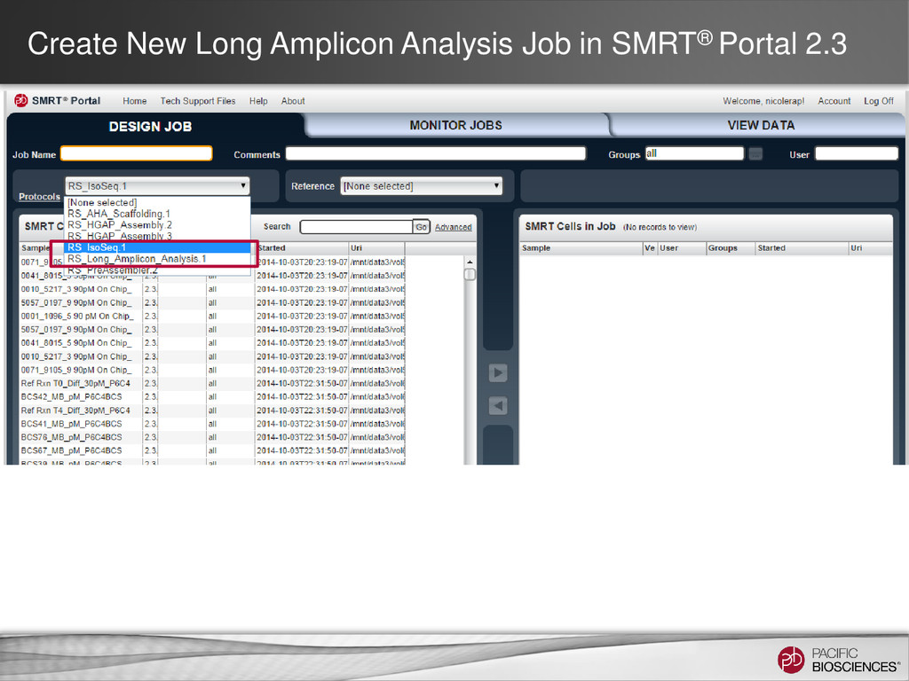 Create New Long Amplicon Analysis Job in SMRT® ...