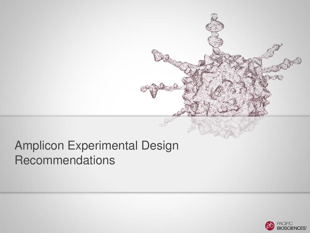 Amplicon Experimental Design Recommendations
