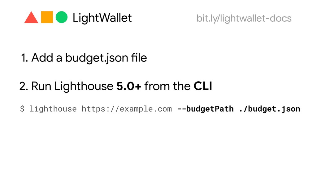 1. Add a budget.json file 2. Run Lighthouse 5.0...