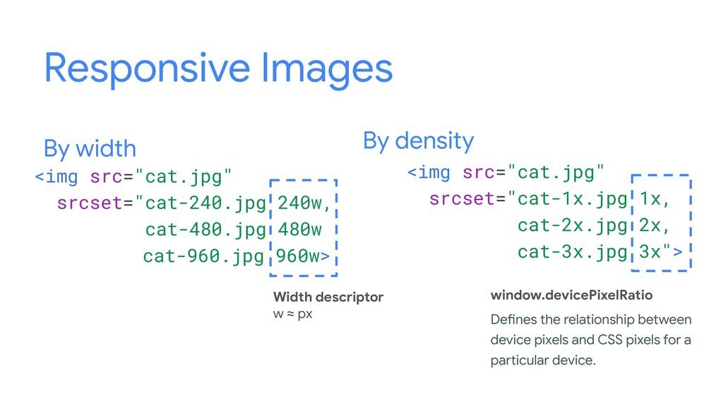 "By width By density <img src=""cat.jpg"" srcset=""..."
