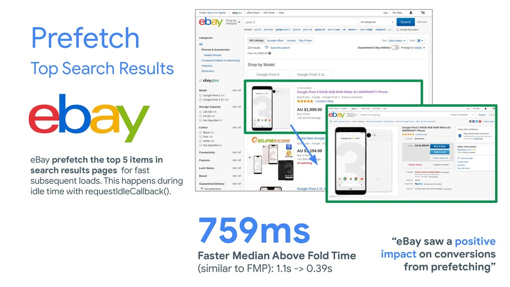 Prefetch Top Search Results Faster Median Above...