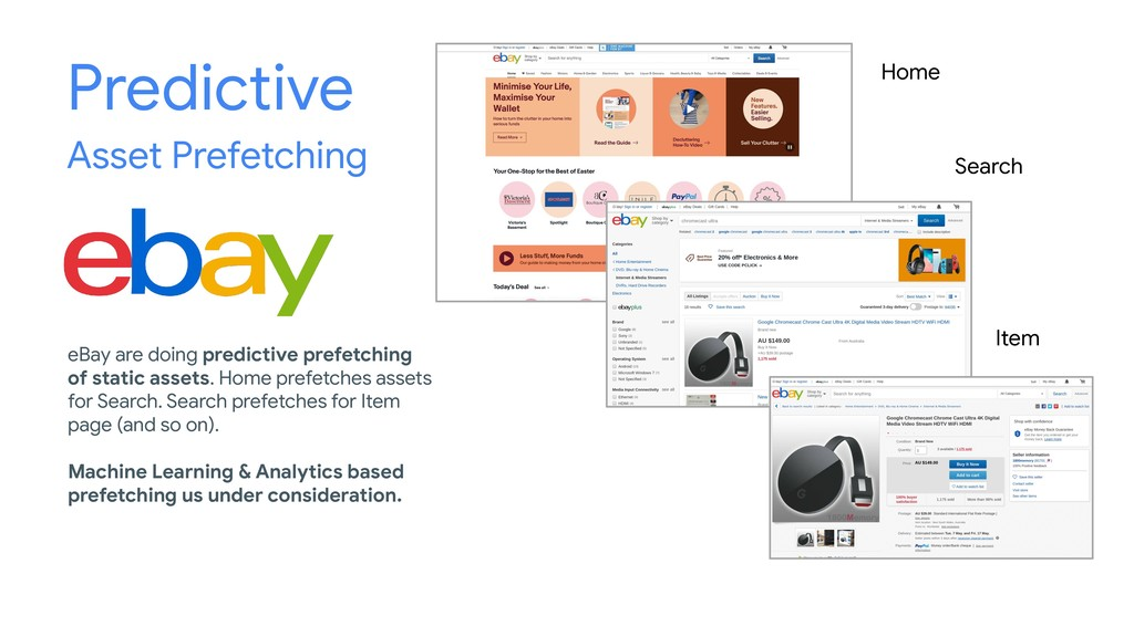 Predictive Asset Prefetching Home Search Item e...