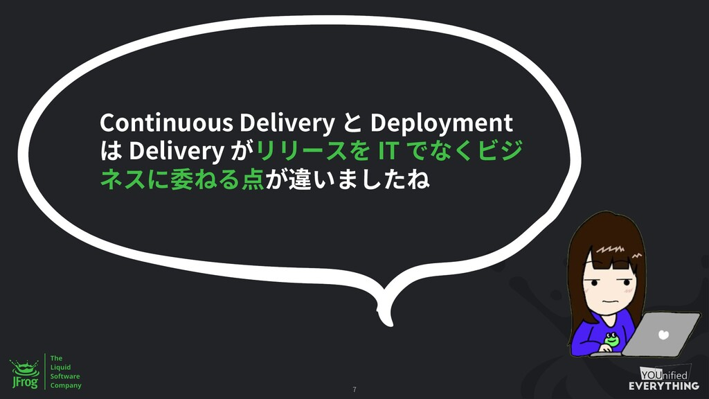 7 Continuous Delivery Deployment Delivery IT