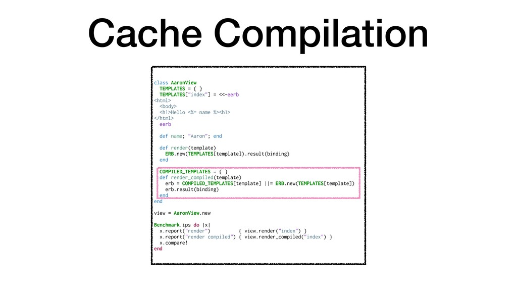 Cache Compilation class AaronView TEMPLATES = {...