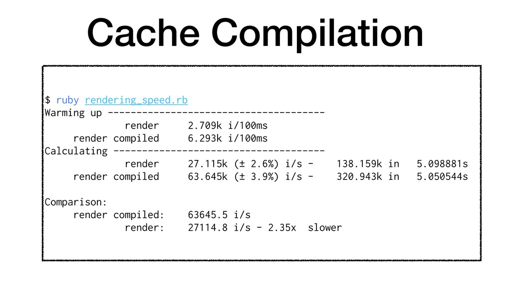Cache Compilation $ ruby rendering_speed.rb War...