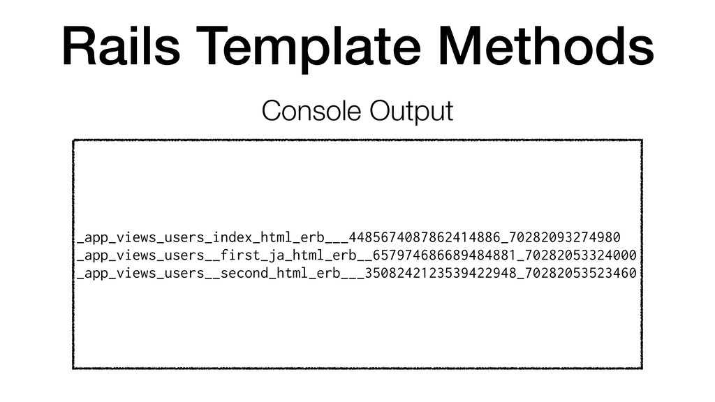 Rails Template Methods Console Output _app_view...