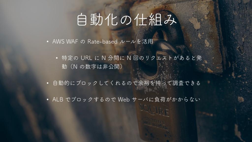 """ࣗಈԽͷΈ w """"848""""'ͷ3BUFCBTFEϧʔϧΛ׆༻ w ಛఆͷ63..."""