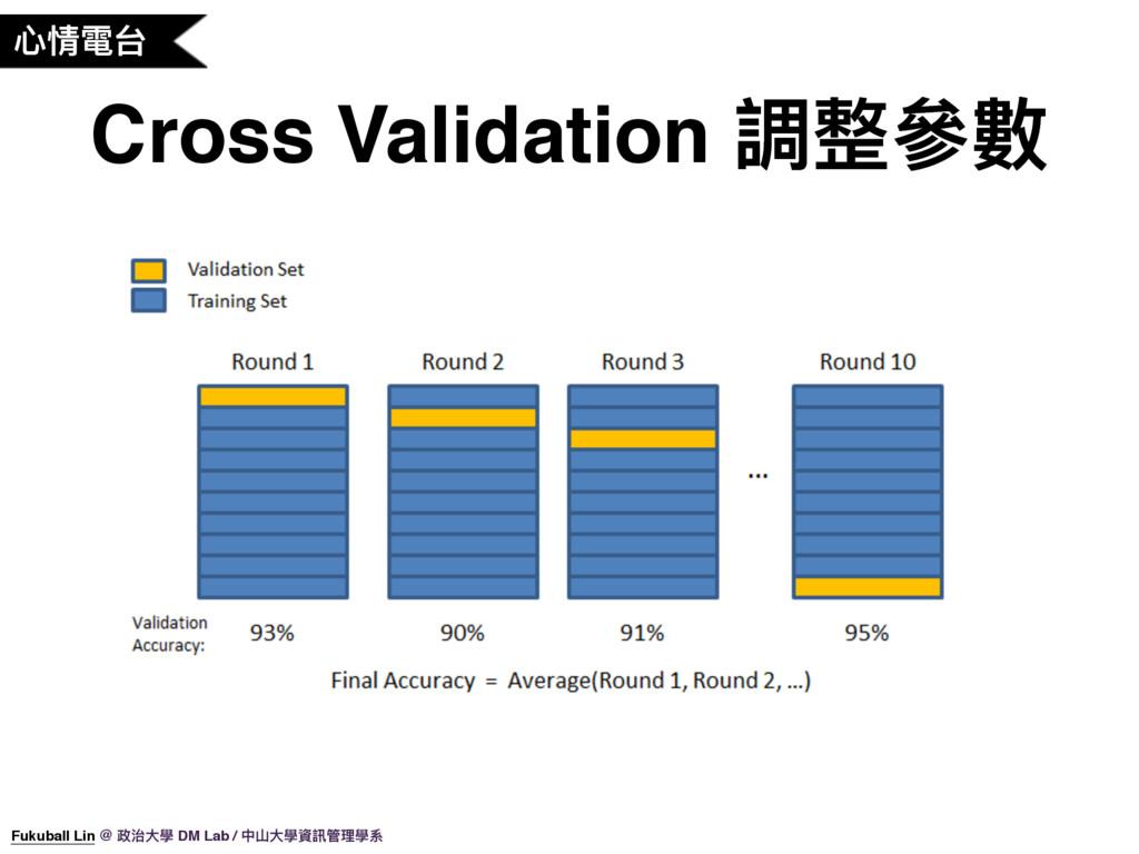 ஞ眐襎ݣ Cross Validation 藲碉㷢碍 Fukuball Lin @ 硰လय़䋊 ...