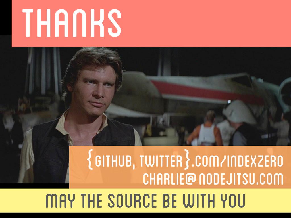 THANKS {github, twitter}.com/indexzero CHARLIE@...