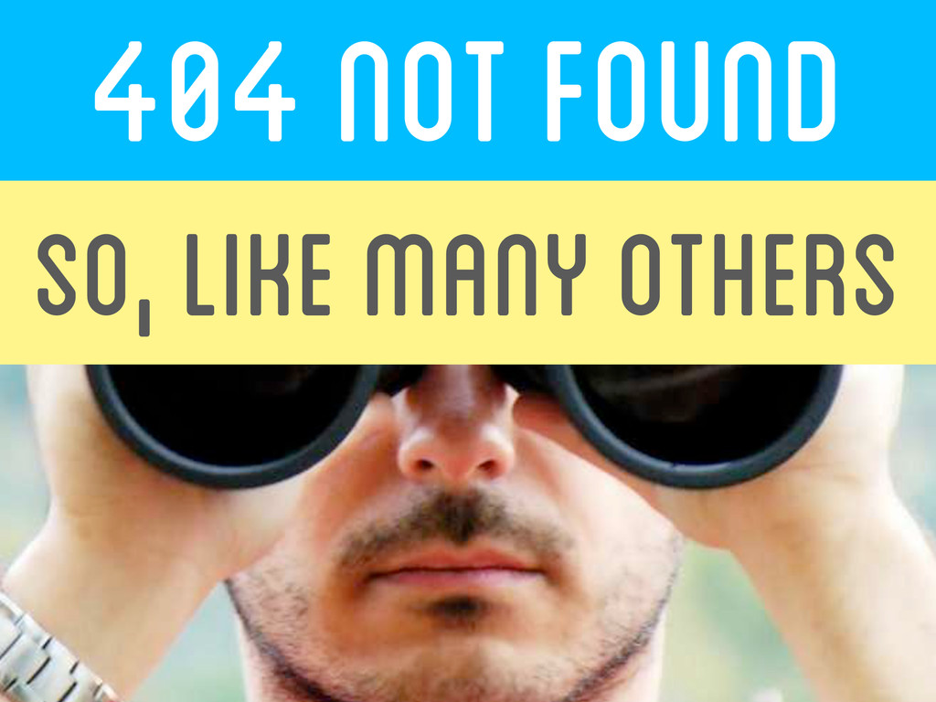 404 not found  SO, like many others