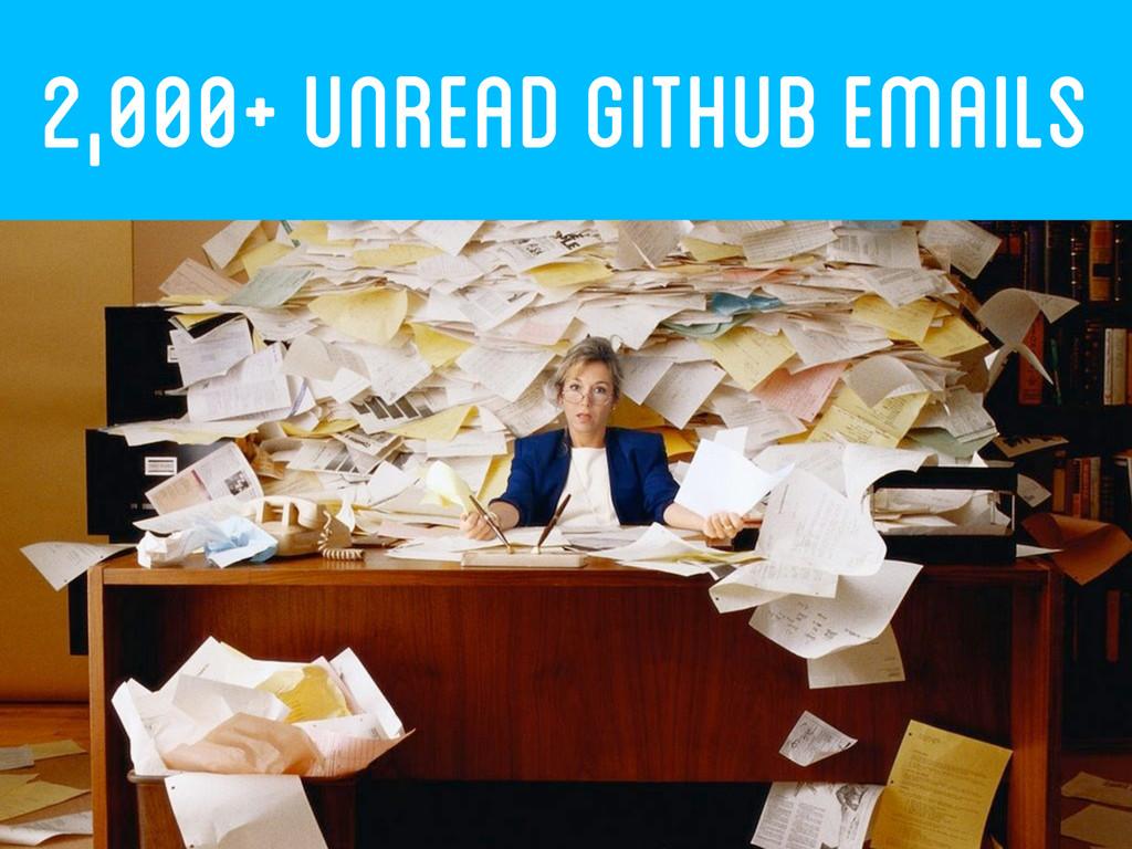 2,000+ UNREAD GITHUB EMAILs