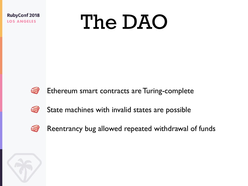 The DAO Ethereum smart contracts are Turing-com...