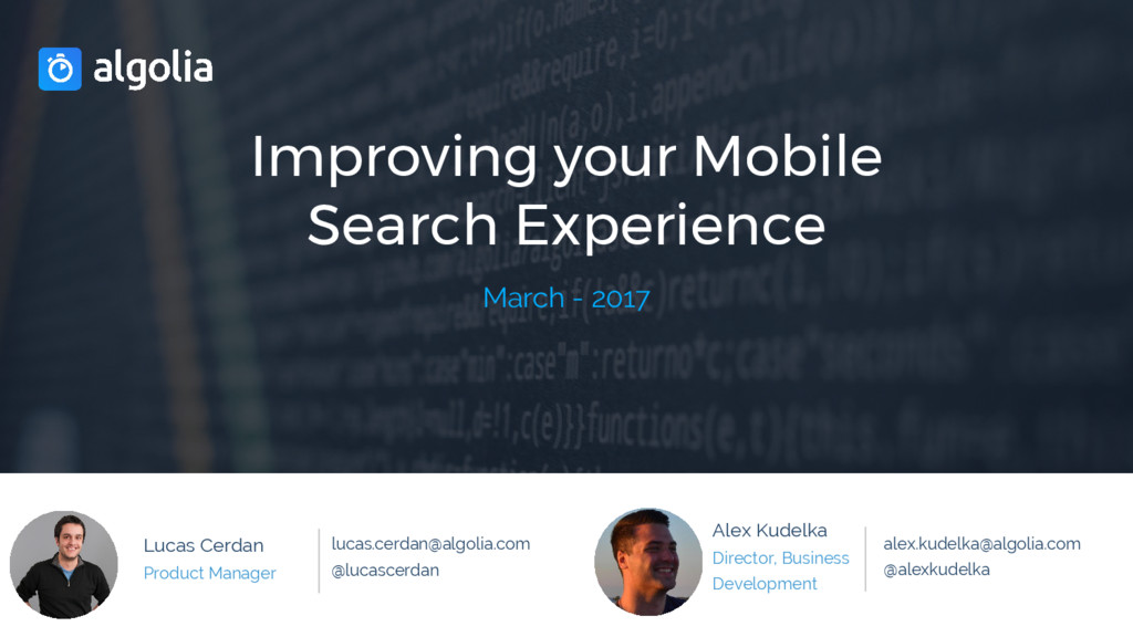 Improving your Mobile Search Experience March -...