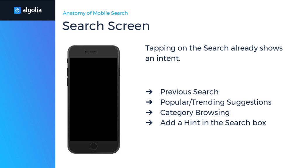 Anatomy of Mobile Search Tapping on the Search ...