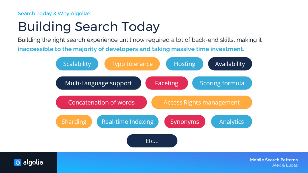 Search Today & Why Algolia? Building Search Tod...