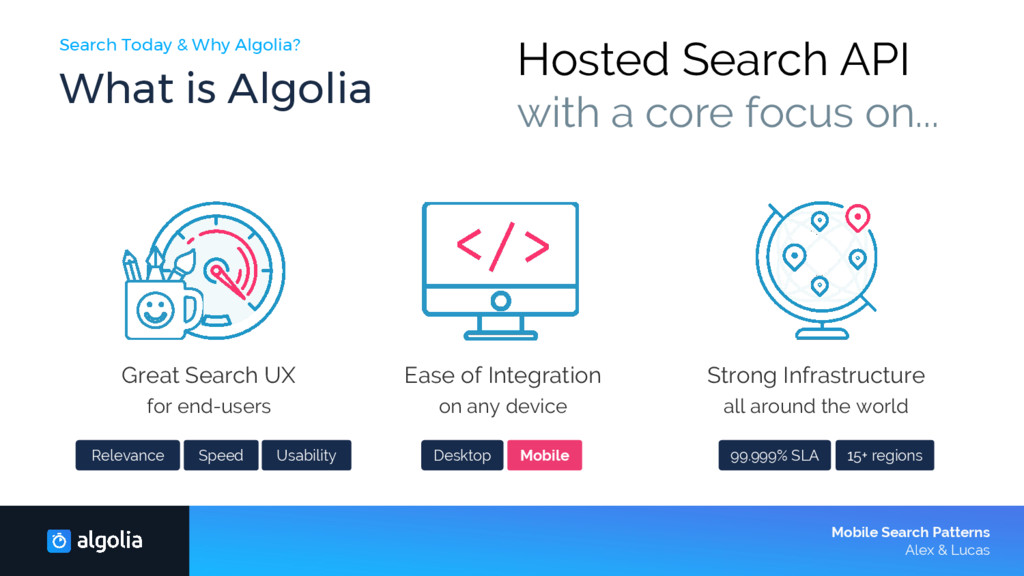 Search Today & Why Algolia? What is Algolia Mob...