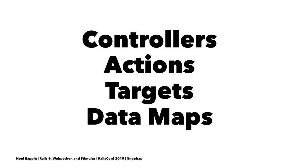 Controllers Actions Targets Data Maps Noel Rapp...