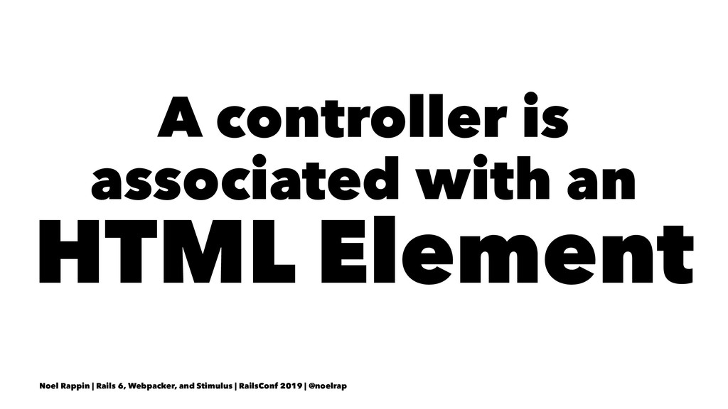 A controller is associated with an HTML Element...