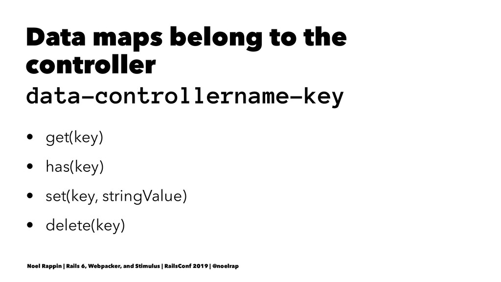 Data maps belong to the controller data-control...