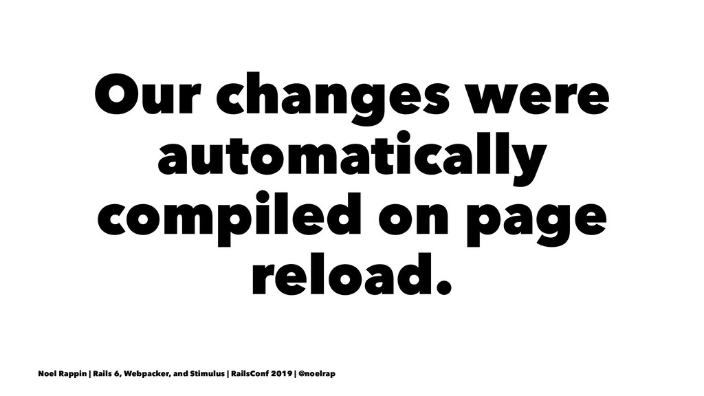 Our changes were automatically compiled on page...