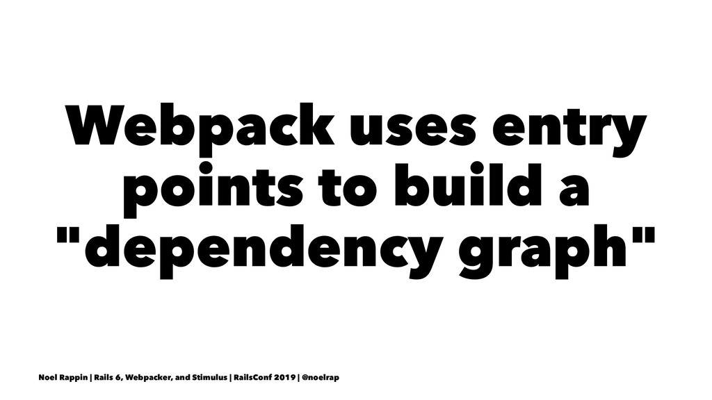 "Webpack uses entry points to build a ""dependenc..."