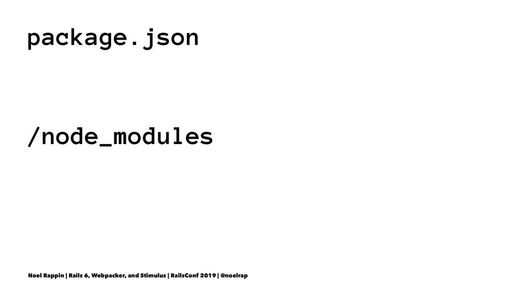 package.json /node_modules Noel Rappin | Rails ...