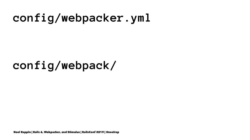 config/webpacker.yml config/webpack/ Noel Rappi...