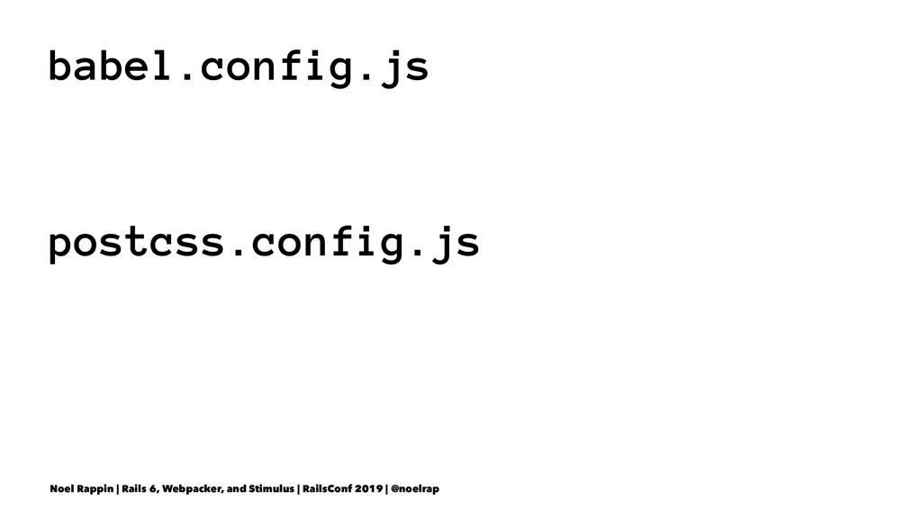 babel.config.js postcss.config.js Noel Rappin |...