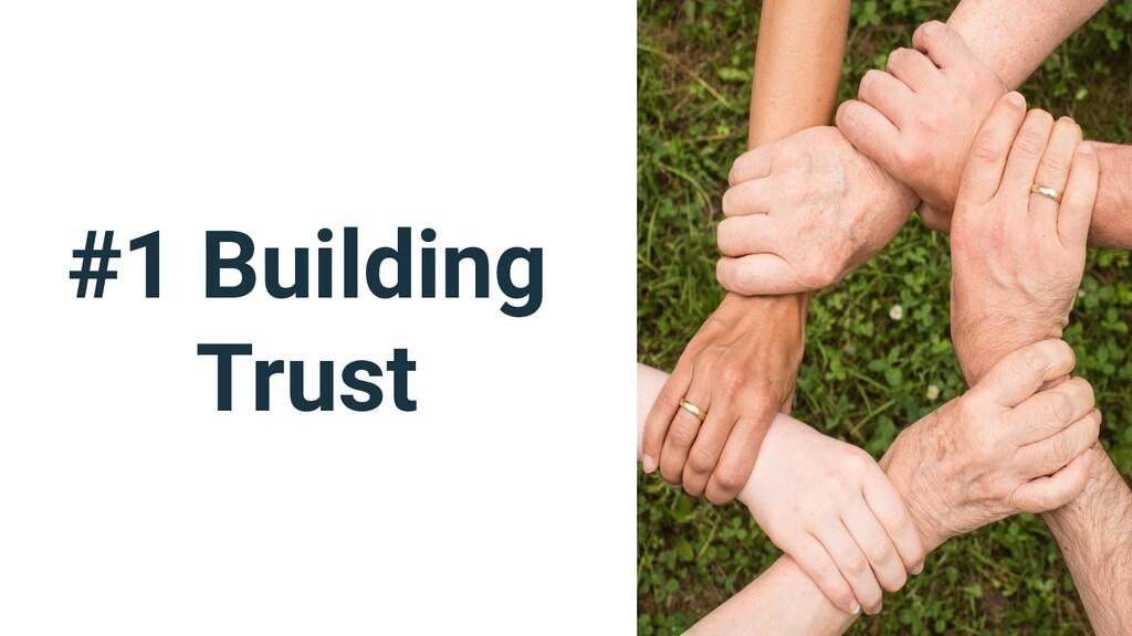 #1 Building Trust