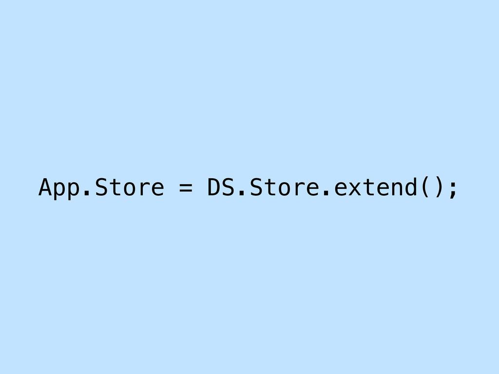 App.Store = DS.Store.extend();