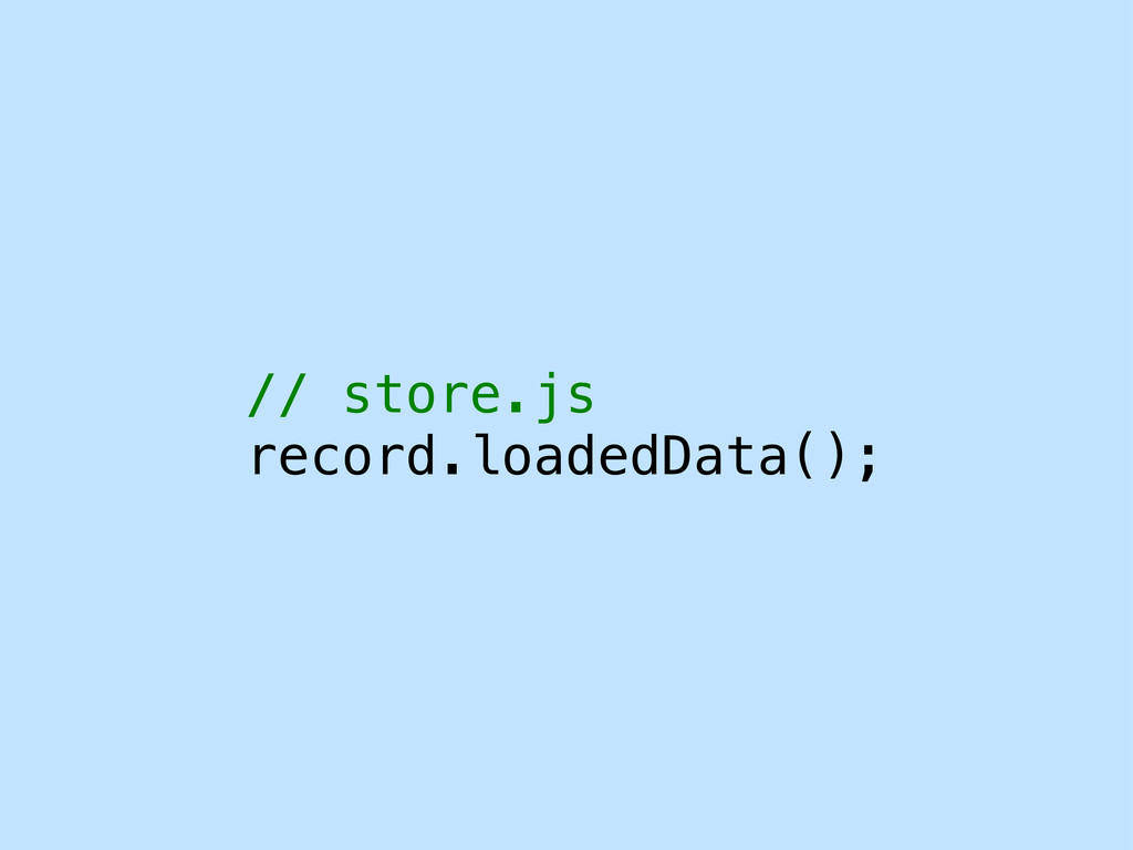 // store.js record.loadedData();