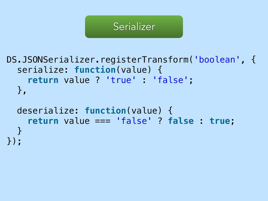 DS.JSONSerializer.registerTransform('boolean', ...